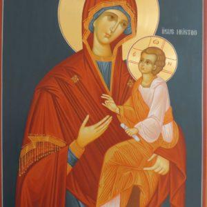 Icoană pictată Maica Domnului grabnic ajutătoare