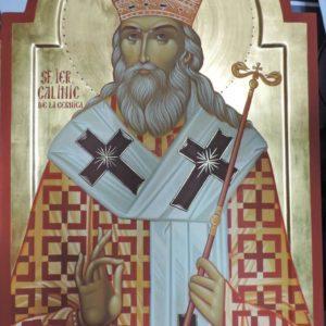 Icoană pictată Sf. Calinic de la Cernica