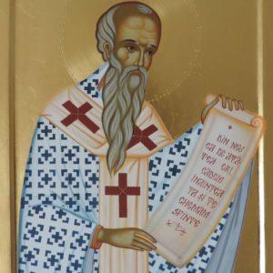 Icoană pictată Sf. Ierarh Alexandru