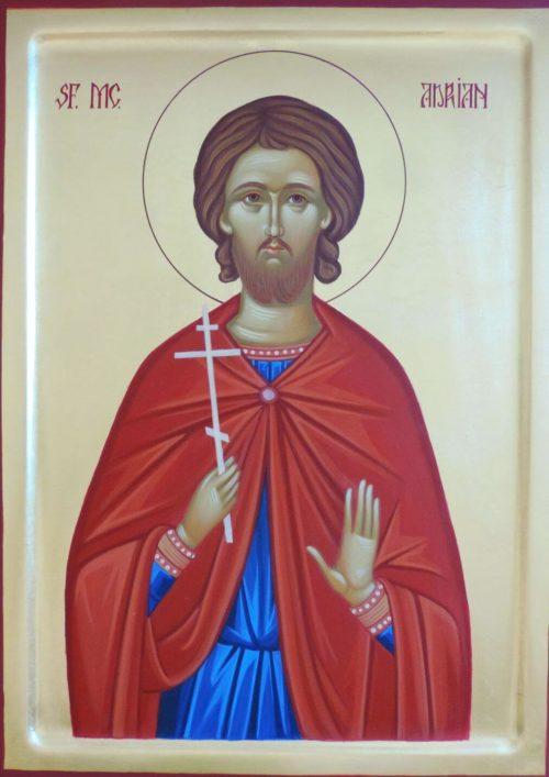 Icoană pictată Sf. Mucenic Adrian
