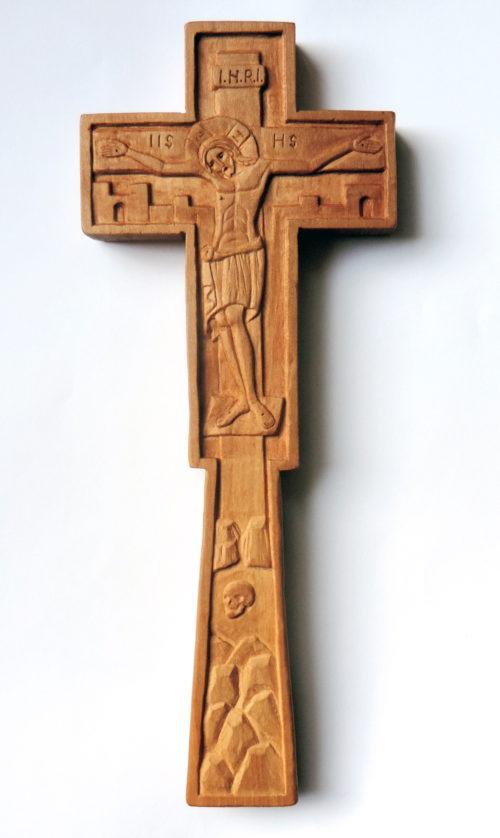 Cruce de mână sau de perete dublă verso